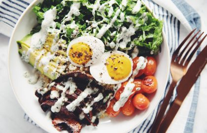 vegan BLTA grain bowl_vegan egg_hot for food