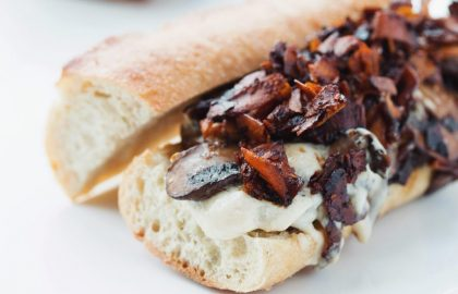 vegan bacon mushroom melt_hot for food