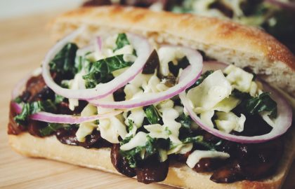 vegan pulled bbq mushroom sandwiches_hot for food