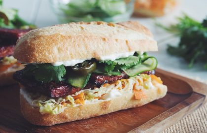 bbq tempeh banh mi_hot for food