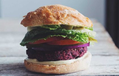 black bean beet burger_hot for food