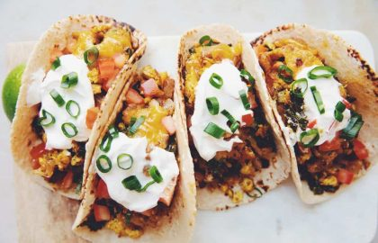 cheesy vegan breakfast tacos_hot for food