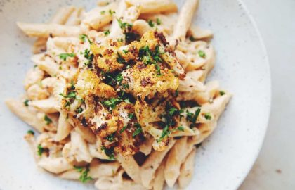 roasted cauliflower alfredo_hot for food