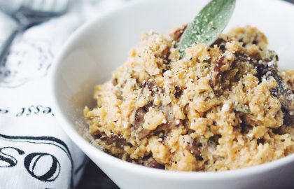 mushroom sage cauliflower risotto_hot for food