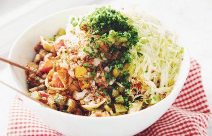 vegan cheeseburger pasta salad_hot for food