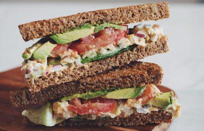 chickpea tuna sandwich_hot for food