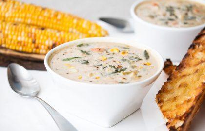corn chowder_hot for food