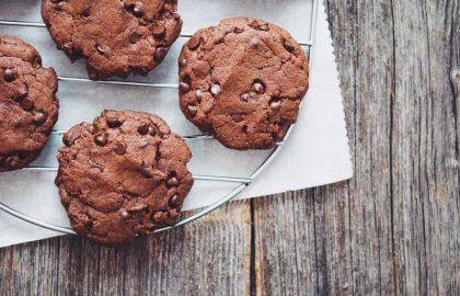 vegan double chocolate cookies_hot for food
