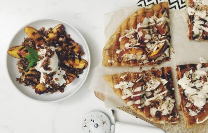 grilled peaches 2 ways