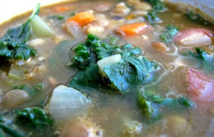 kale lentil soup_hot for food