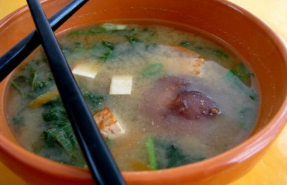 modern miso soup_hot for food