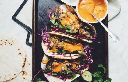 roasted poblano & jackfruit tacos with adobo cream sauce_hot for food