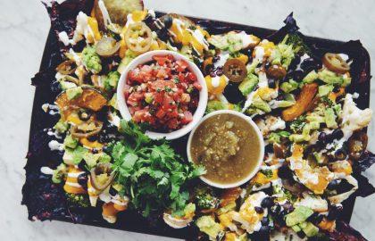 roasted veggie sheet pan nachos_hot for food