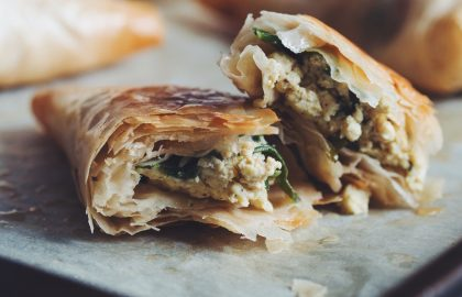 spinach feta phyllo triangles_hot for food
