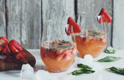 strawberry ginger basil cocktail_hot for food