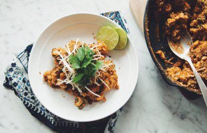 vegan thai red curry mac & cheese