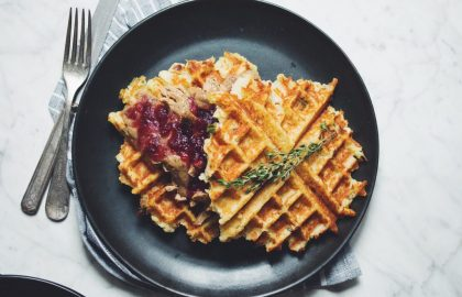 vegan thanksgiving waffles_hot for food