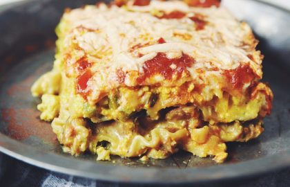 vegan breakfast lasagna_hot for food