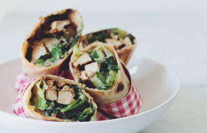 vegan chicken caesar wraps_hot for food