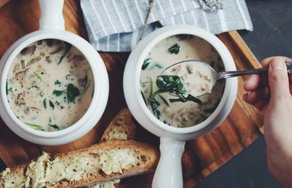 vegan cream of mushroom soup_hot for food