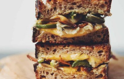 vegan jalapeno popper grilled cheese_hot for food