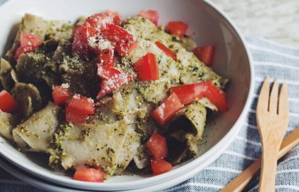 easy pesto pasta_hot for food