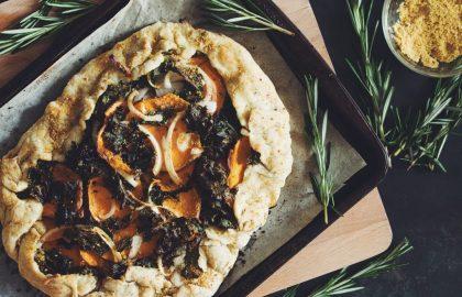 vegan sweet potato galette