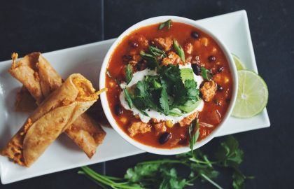 tortilla soup & cheesy taquitos_hot for food